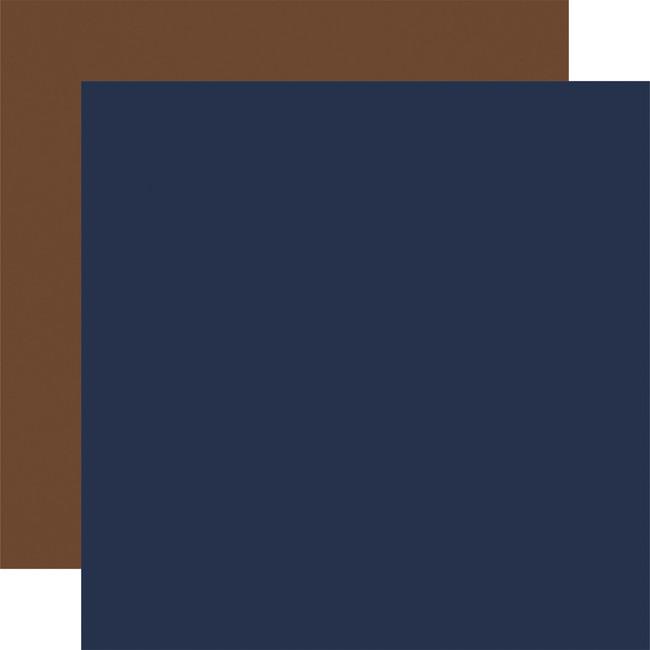Outdoor Adventures: Designer Solids - Navy/Brown