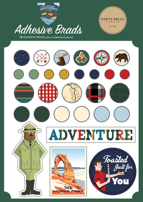 Outdoor Adventures: Adhesive Brads