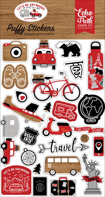 Let's Go Anywhere: Puffy Stickers