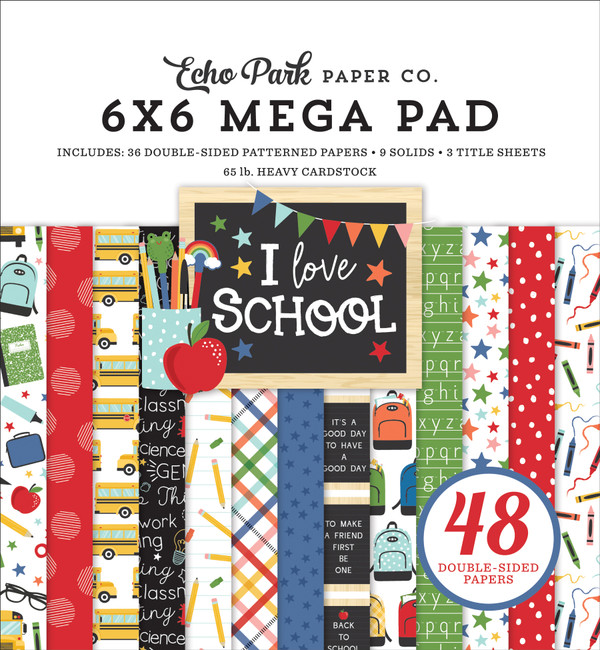 I Love School: Cardmakers 6x6 Mega Pad