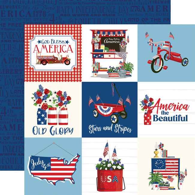 God Bless America: 4x4 Journaling Cards