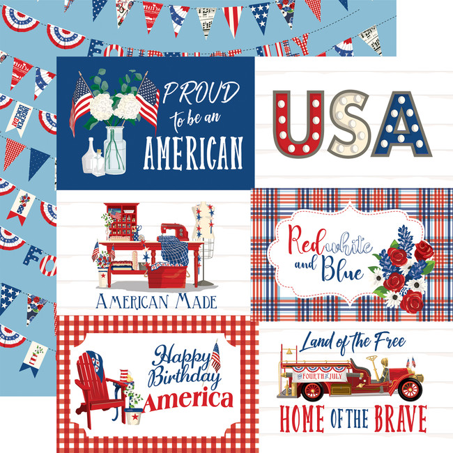God Bless America: 6x4 Journaling Cards