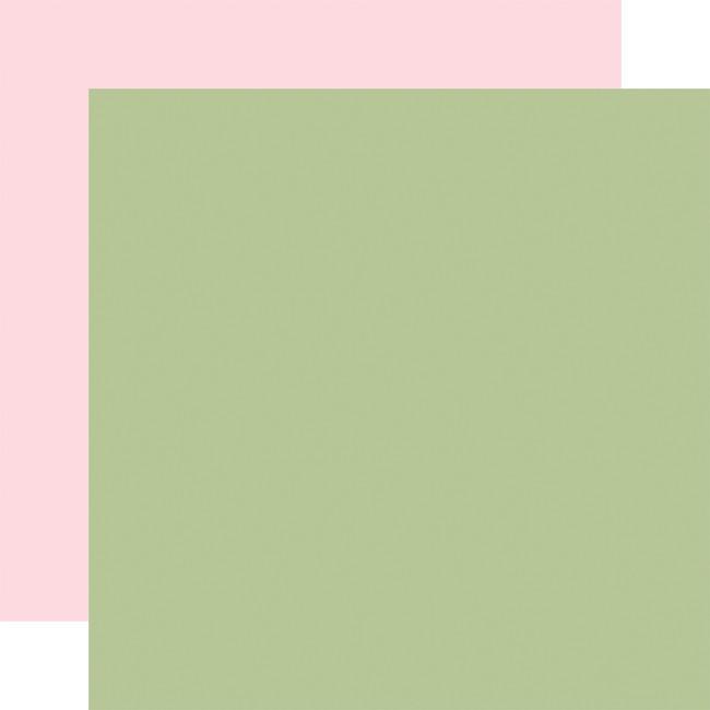 Flora no. 4: Designer Solids - Sage/Light Pink