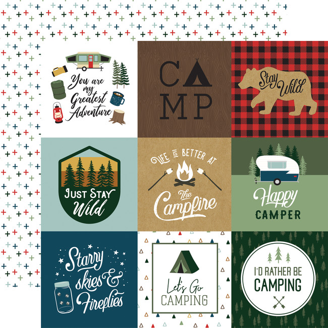 Let's Go Camping: 4X4 Journaling Cards