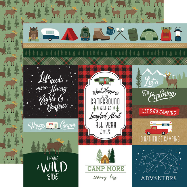 Let's Go Camping: Multi Journaling Cards