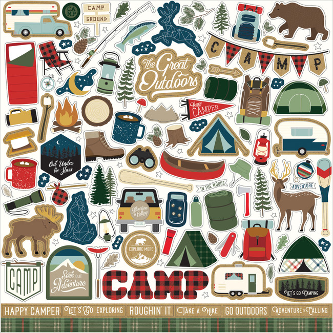 Let's Go Camping Element Sticker