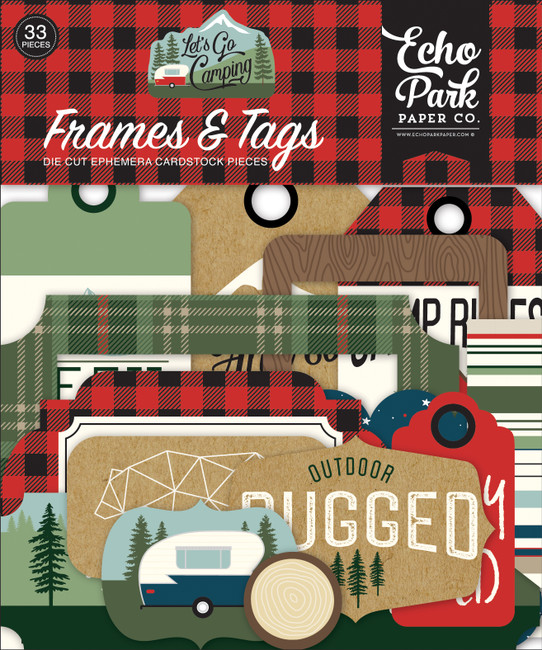 Let's Go Camping Frames & Tags