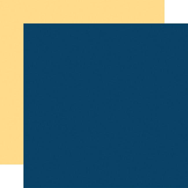 Craft & Create: Designer Solids - Navy/Yellow