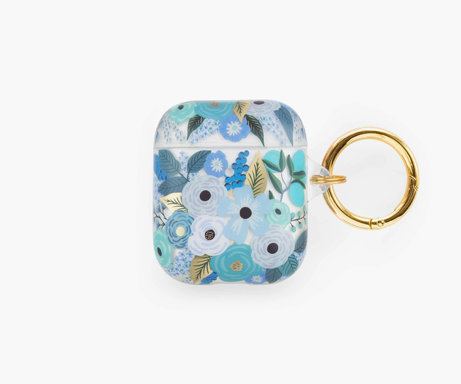 Rifle Paper Co. : Clear Garden Party Blue AirPods Case