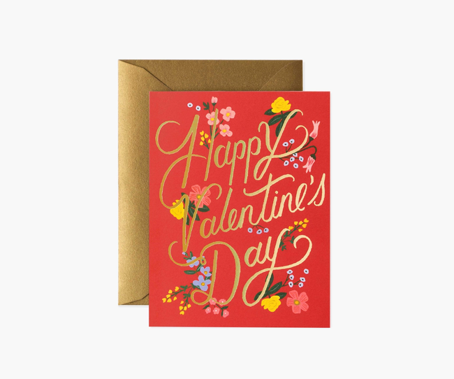 Rifle Paper Co: Rouge Valentine's Day- Single Card