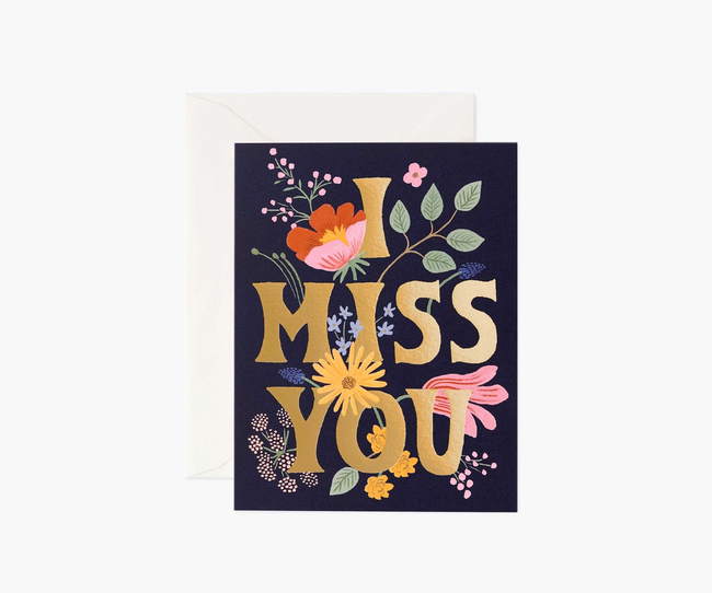 Rifle Paper Co: I Miss You- Single Card
