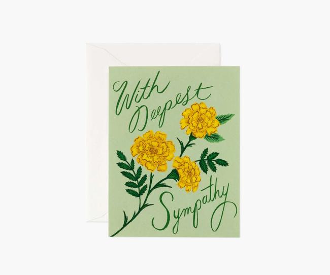 Rifle Paper Co: Marigold Sympathy- Single Card