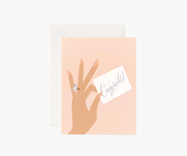 Rifle Paper Co: Congrats Ring- Single Card
