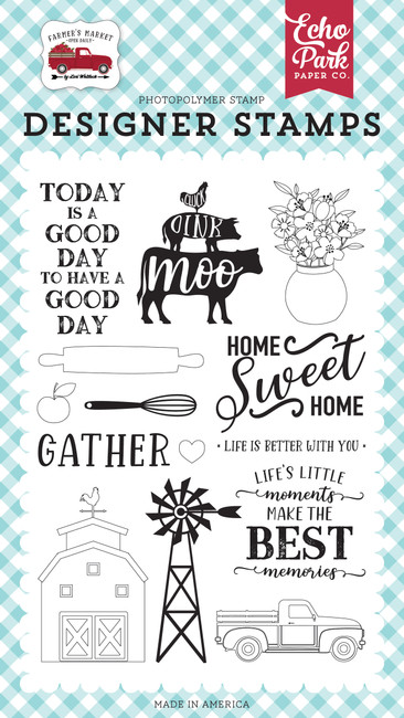 Farmers Market: Home Sweet Home Stamp Set