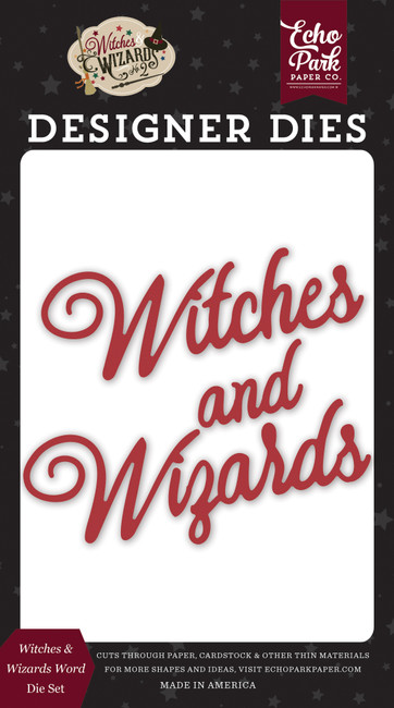 Witches and Wizards No. 2: Witches & Wizards Word Die Set
