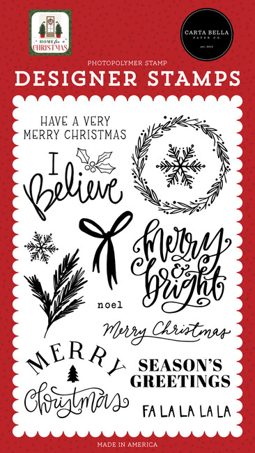 Home For Christmas: I Believe Stamp Set