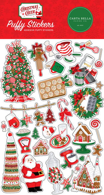 Christmas Cheer Puffy Stickers