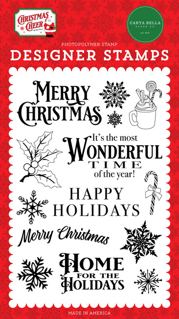Christmas Cheer: Most Wonderful Time Stamp Set
