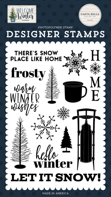 Welcome Winter: Snow Place Like Home Stamp Set