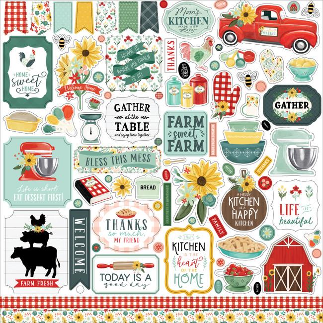 Sunflower Market Element Sticker
