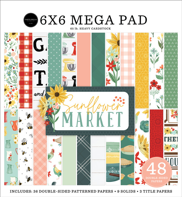 Sunflower Market Cardmakers Mega Paper Pad