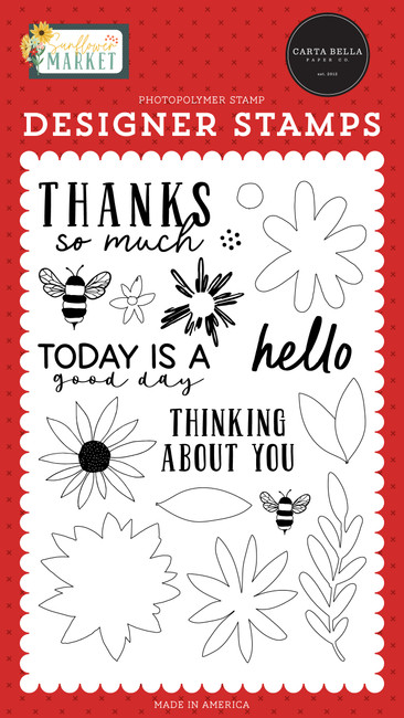 Sunflower Market: Today Is A Good Day Stamp Set