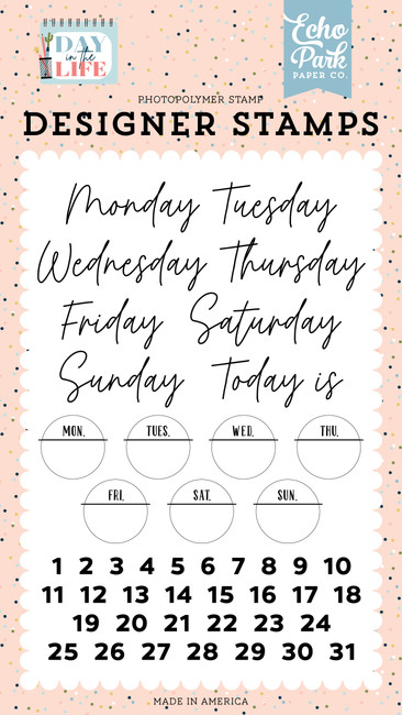 Day In The Life: Days Of The Week Stamp Set