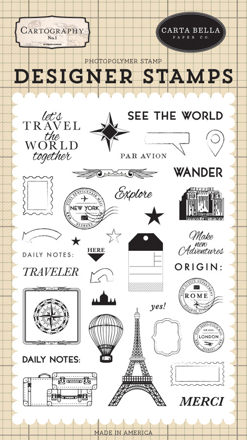 Cartography No. 1: See the World Stamp