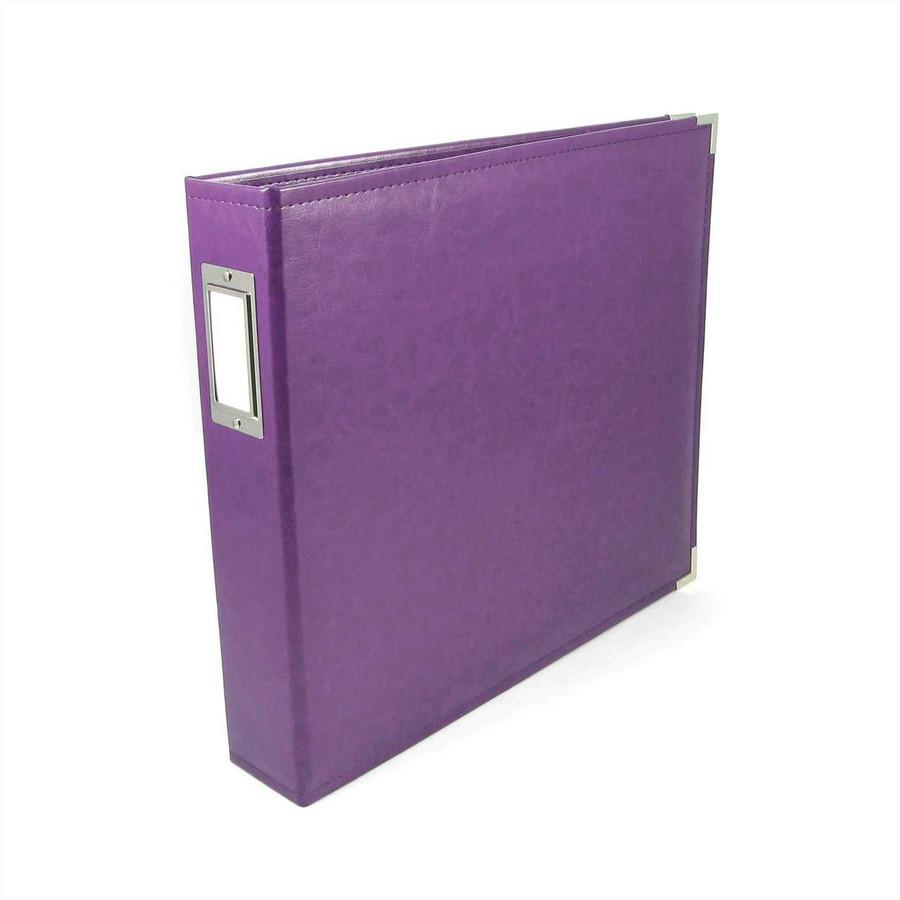 12x12 Leather Ring Album: Grape Soda
