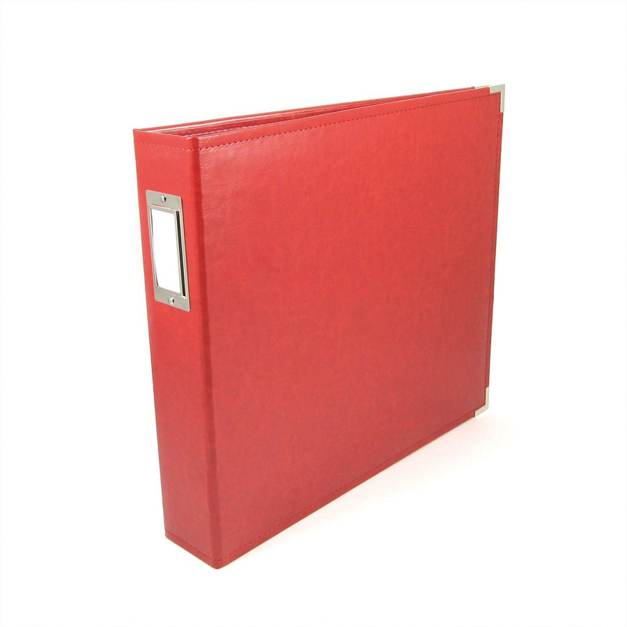 12x12 Leather Ring Album: Real Red