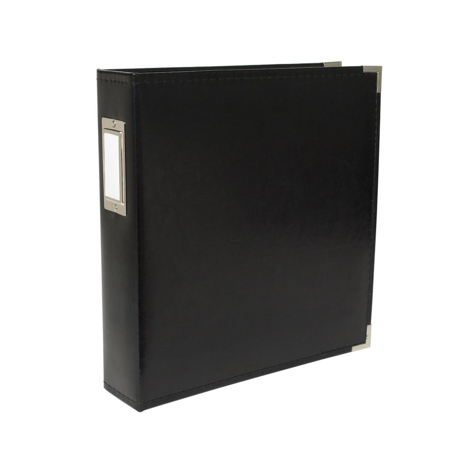 8.5x11 Leather Ring Album: Black