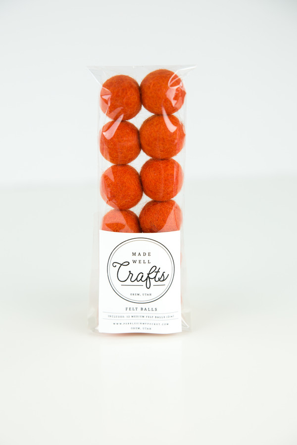Felt Balls: Burnt Orange