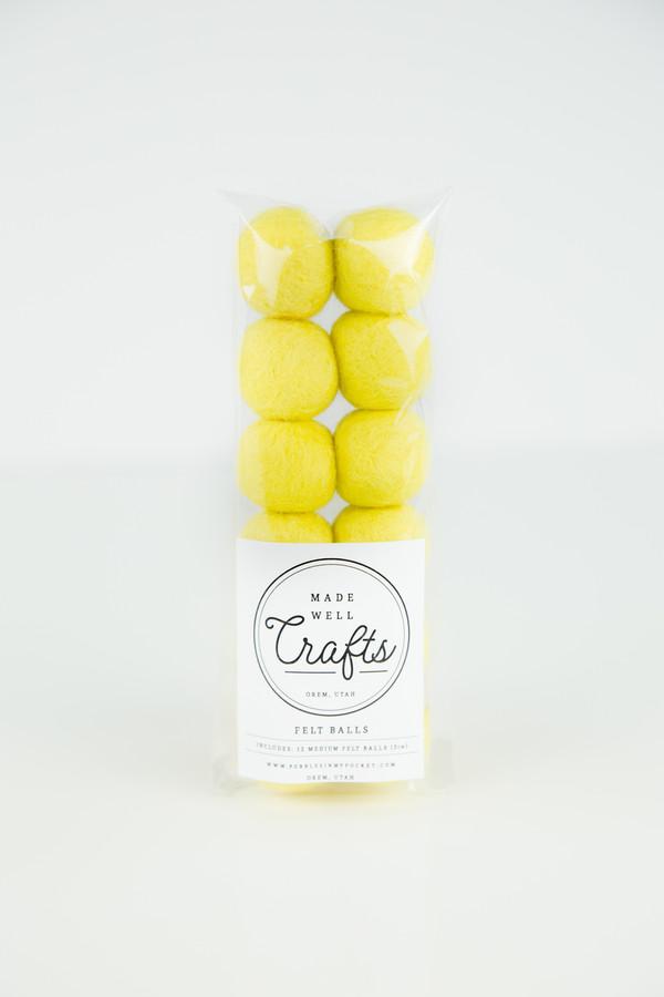 Felt Balls: Yellow