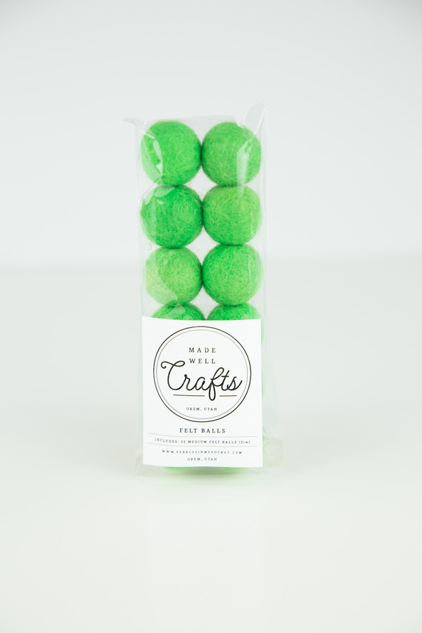 Felt Balls: Green