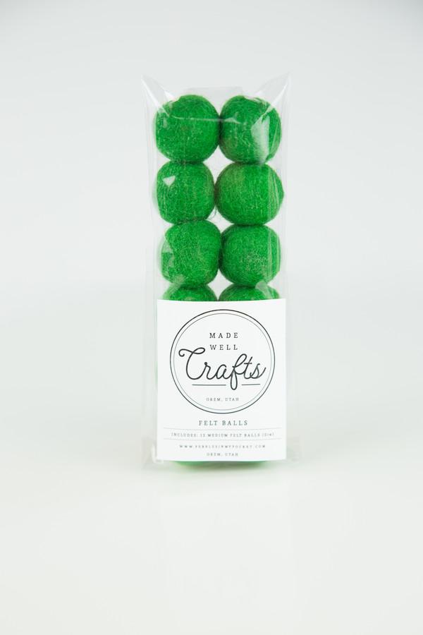 Felt Balls: Holiday Green