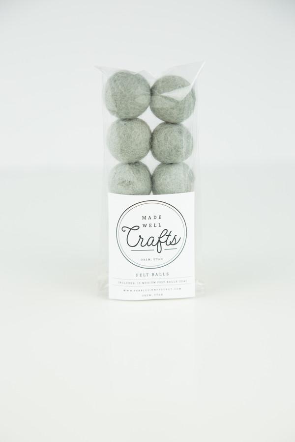 Felt Balls: Grey