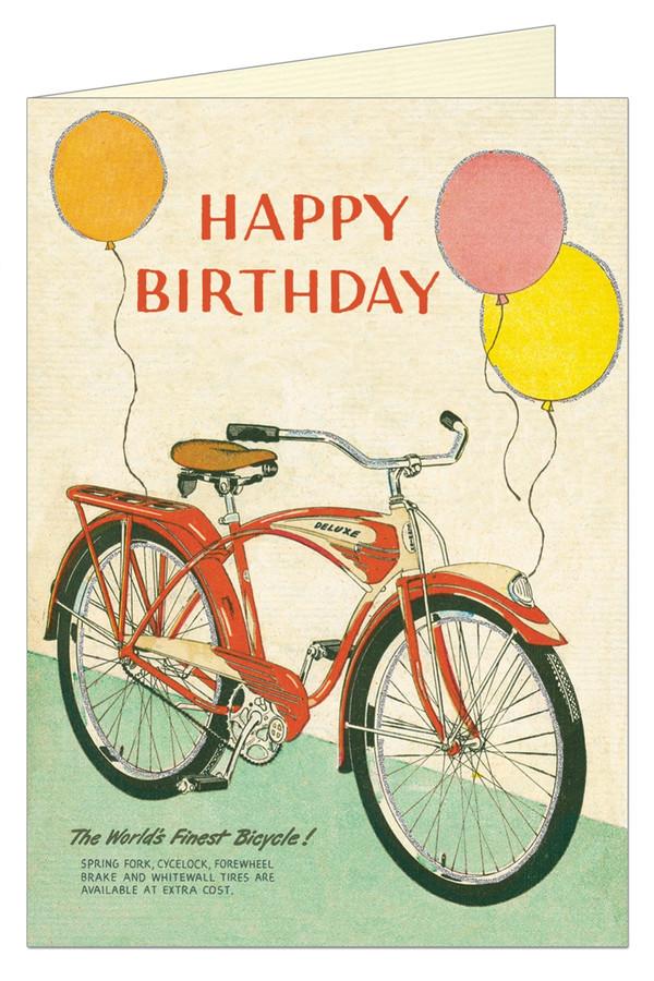 Cavallini & Co: Happy Birthday Bicycle