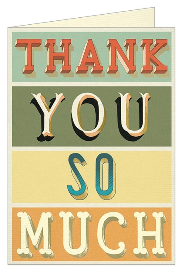 Cavallini & Co: Thank You Typography