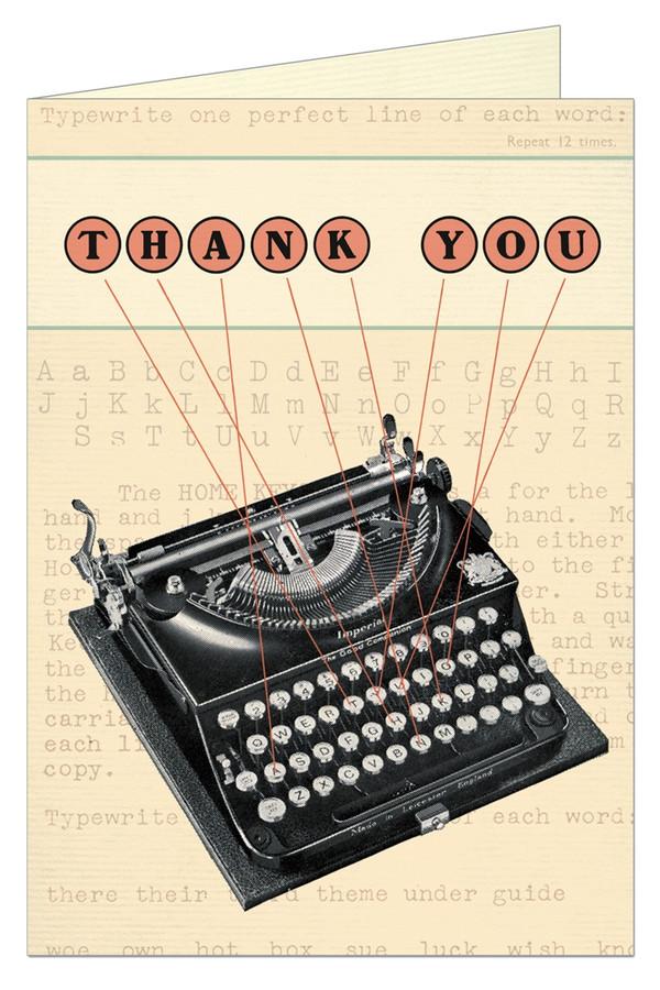 Cavallini & Co: Thank You Vintage Typewriter