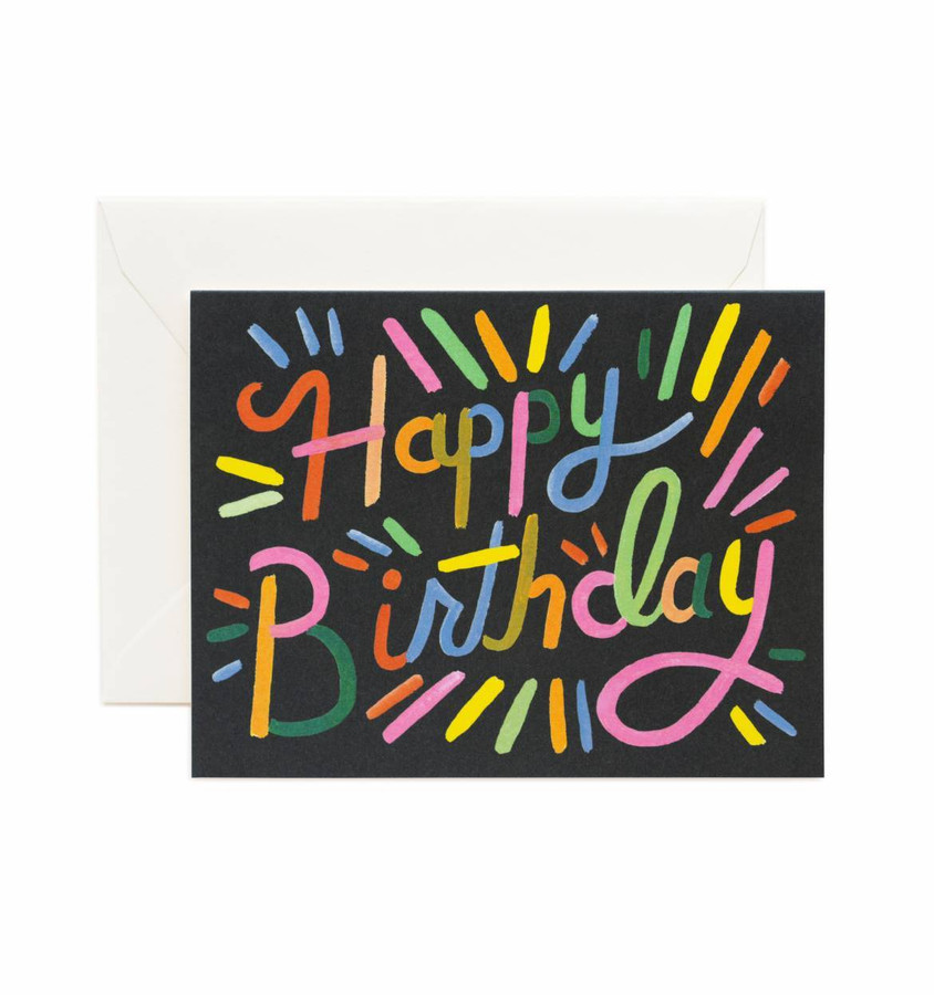 Rifle Paper Co: Fireworks Birthday Card