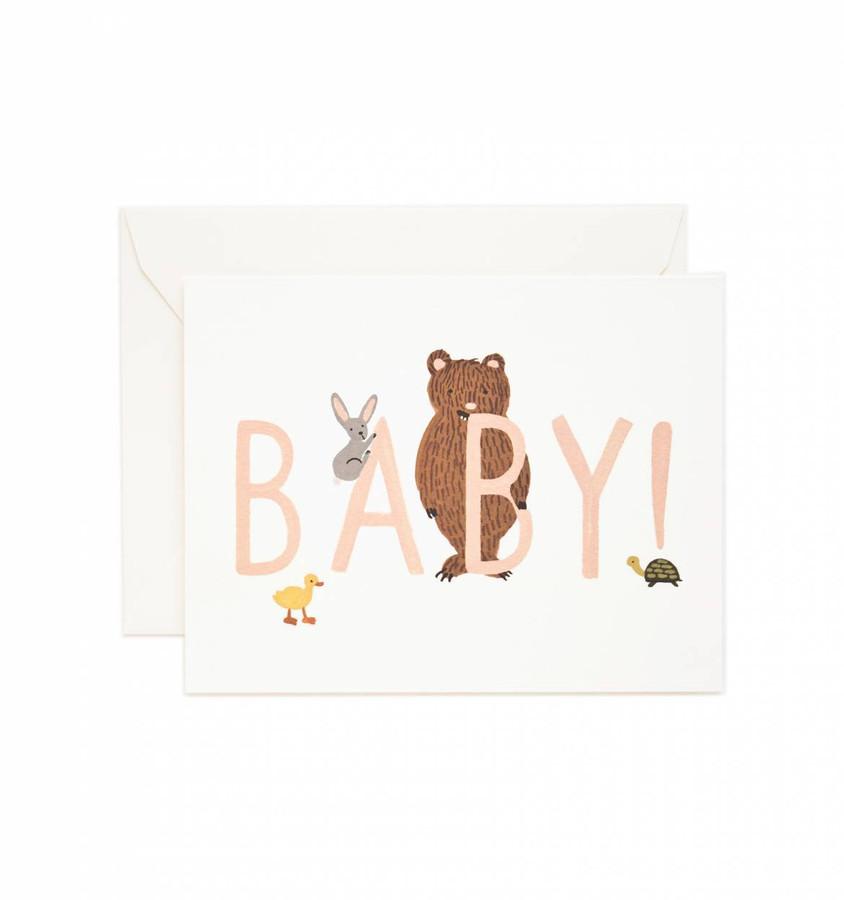 Rifle Paper Co: Baby! Card (Peach)
