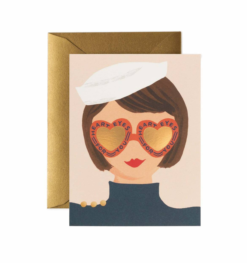Rifle Paper Co: Heart Eyes Card
