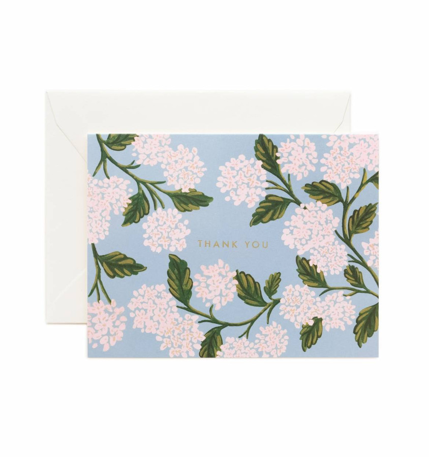 Rifle Paper Co: Hydrangea Thank You Card