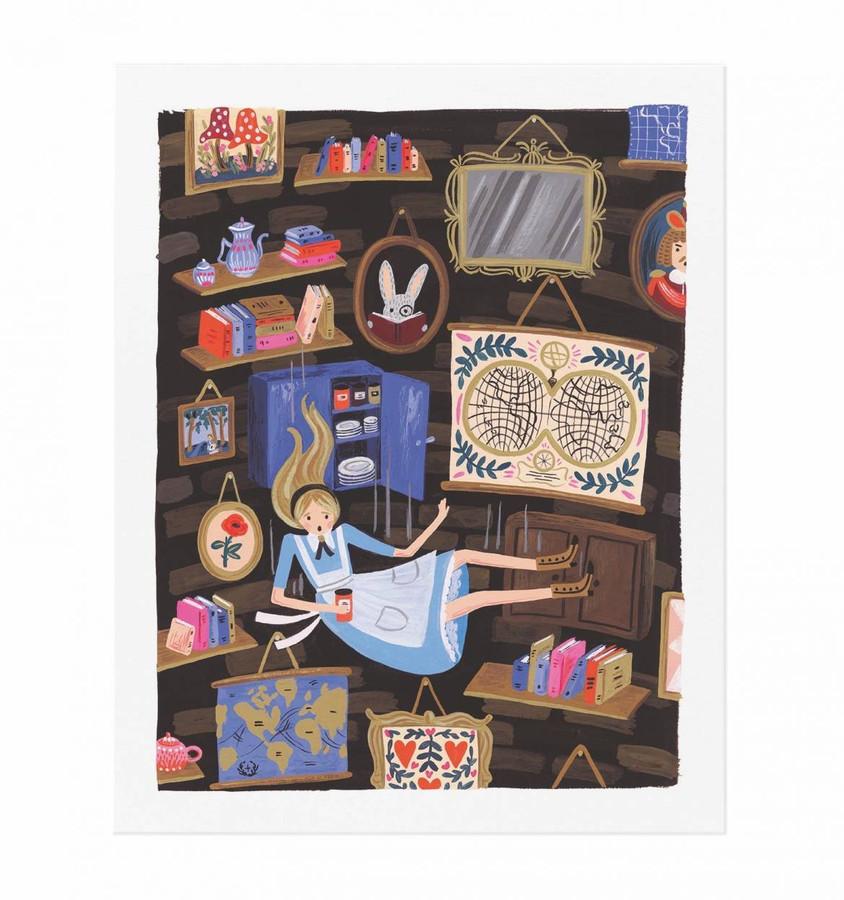 Rifle Paper Co: Alice Falling Art Print