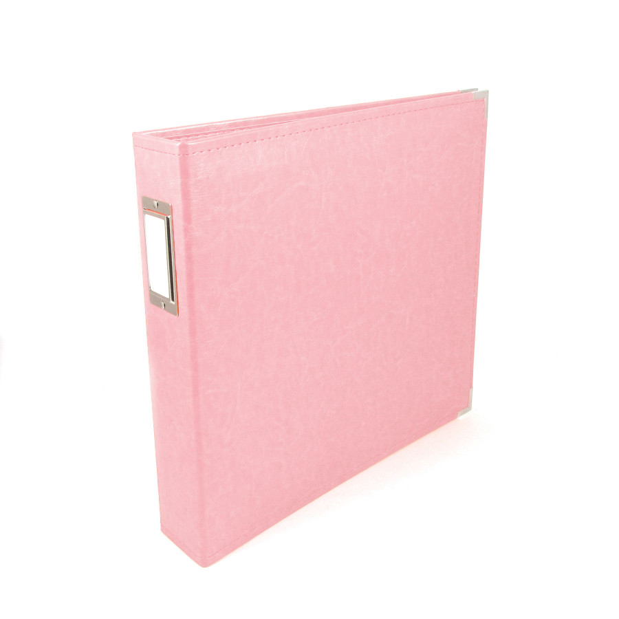 12x12 Leather Ring Album: Pretty Pink