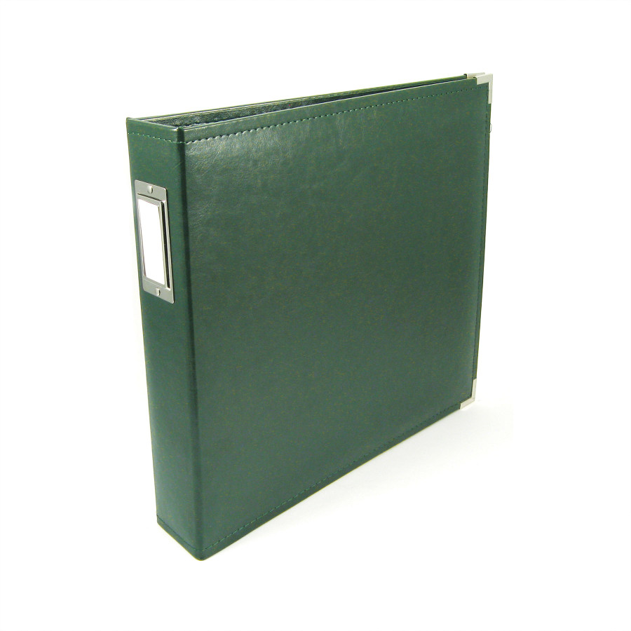12x12 Leather Ring Album: Forest Green