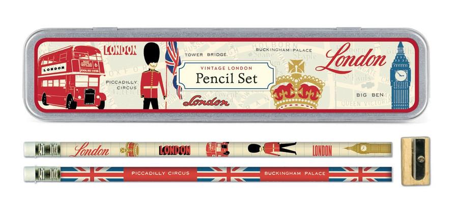 Cavallini & Co: Vintage London Pencil Set