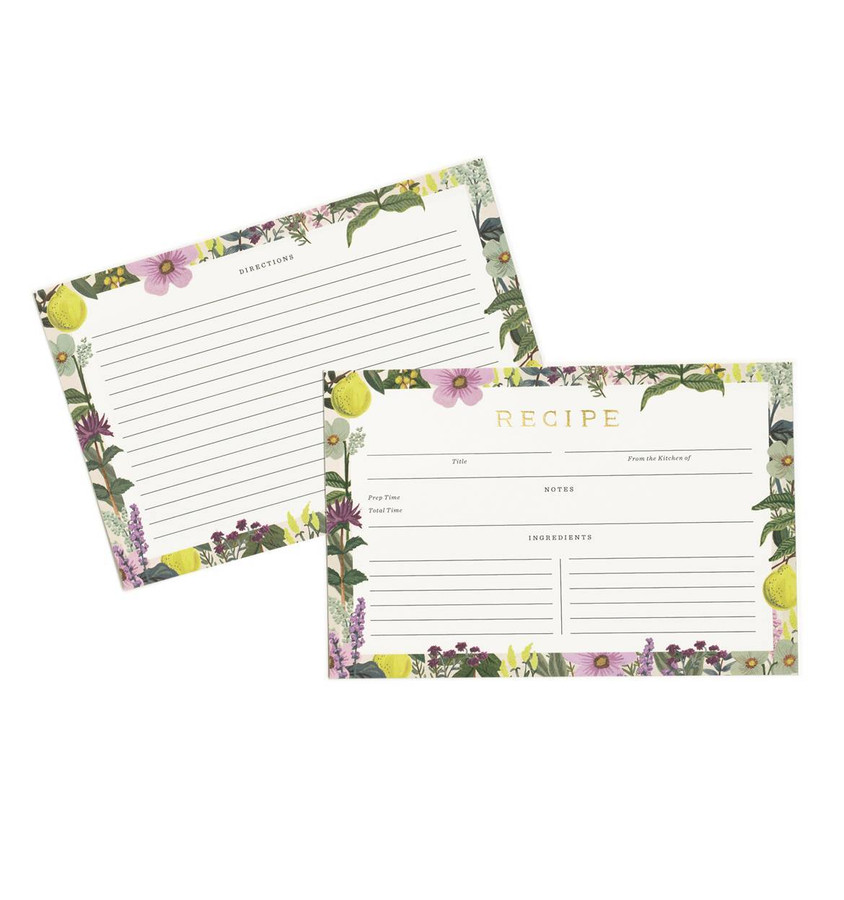 Rifle Paper Co: Herb Garden Recipe Cards