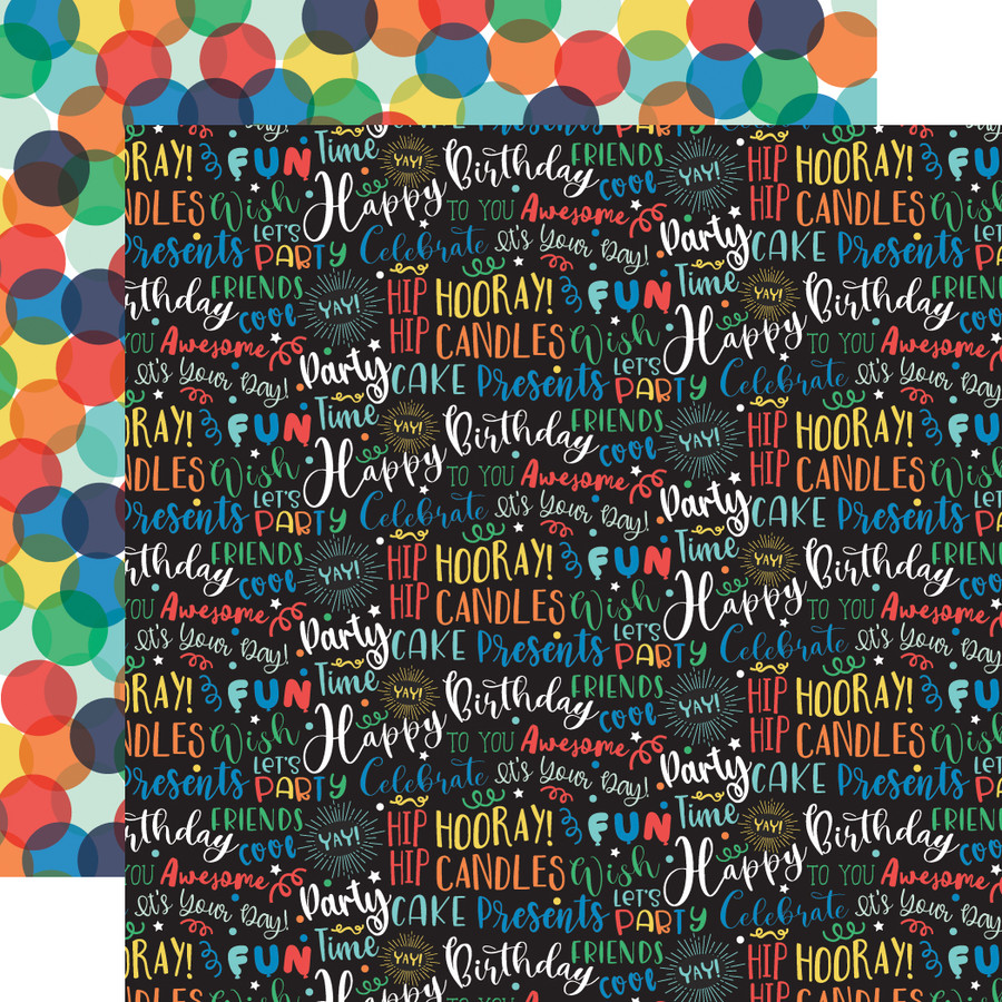 It's Your Birthday Boy: Birthday Boy Words 12x12 Patterned Paper