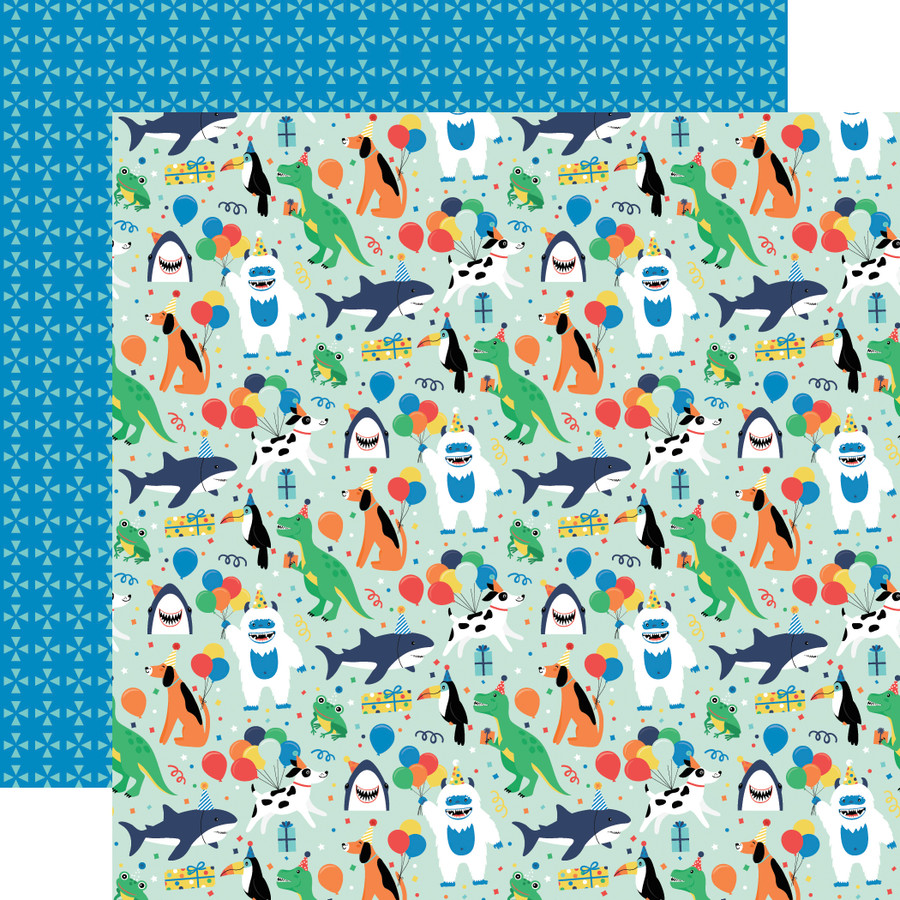 It's Your Birthday Boy: Boy Party Animals 12x12 Patterned Paper
